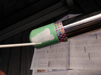 ダサい物干し竿とタッチアップペン