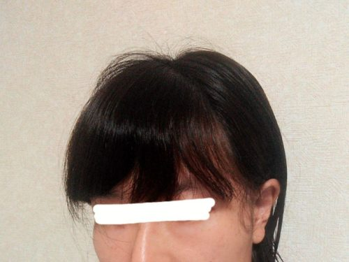 前髪を自分で縮毛矯正する