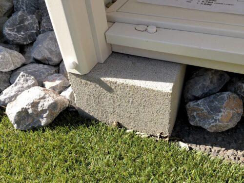 マツモト物置オリジナルのコンクリートブロック
